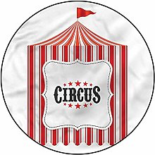 3D Circus Pattern Area Rugs Carpets,4'