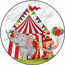 3D Circus Pattern Area Rugs Carpets,5'
