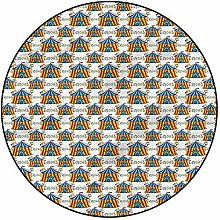 3D Circus Pattern Area Rugs Carpets,6'