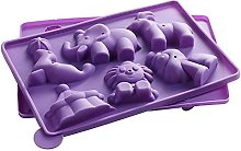 3D Circus Silicone Cake Moulds Clown Elephant Tent