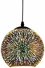 3D Colorful Fireworks Pendant Light Creative