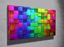 3d colourful blocks canvas print 3d design bedroom