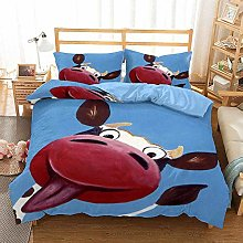 3D Cow Duvet Cover Sets Cartoon Animal Bedding Set