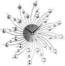 3D Crystal Wall Clock - Metal Art Diamond-studded