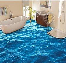 3D Custom Blue Wave Flooring Painting Photo
