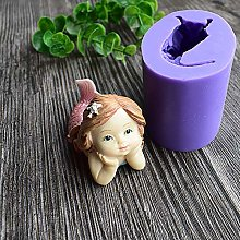 3D Cute Mermaid Girl Silicone Mold Kitchen Cake