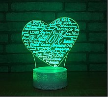 3D Desk Lamp Romantic Bedroom Decorative Table
