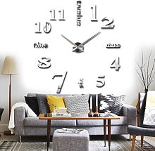 3D DIY Digital Clock with Stickers for Home,