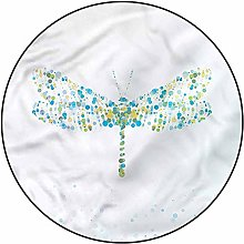 3D Dragonfly Pattern Area Rugs Carpets,3'