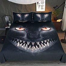 3D Duvet Cover Black Duvet Set Bedding Double Bed