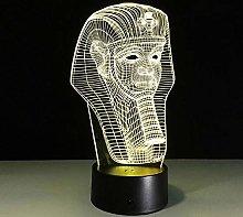 3D Egypt Pharaoh mask Characters Close-up Lamp