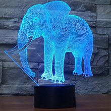 3D Elephant Night Light USB Touch Switch Decor