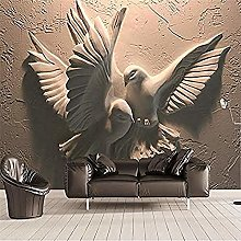 3D Embossed Pigeon TV Sofa Background Wall