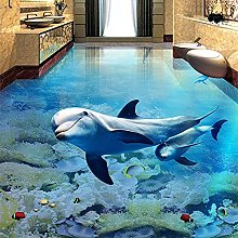 3D Floor Mural Custom Dolphin Underwater World