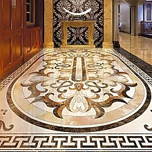 3D Floor Tiles Mural Wallpaper European Style