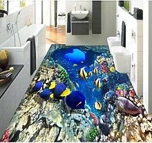 3D Flooring Wallpaper for Bedroom Living Room