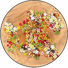 3D Floral Pattern Area Rugs Carpets,4'