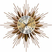 3D Flower Large Wall Clock,Round Metal Wall