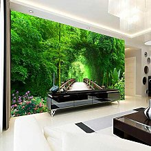 3D Forest Living Room Sofa Tv Background Wallpaper