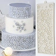 3D Full Snowflake Cake Silicone Embossing Mat