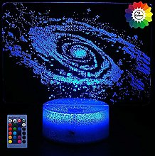 3D Galactic System Night Light USB Powered Remote
