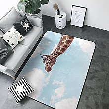 3D Giraffe Print Rectangular Rug 60x90 cm,Unique