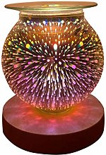 3D Glass Electric Wax Melt Warmer Wax Burner