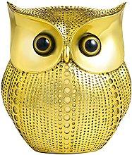 3D Gold Owl Statue Home Decors, APPS2Car Modern