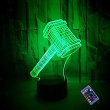 3D Hammer Night Light 16 Colors Changing USB Power