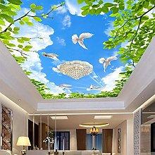3D HD Blue Sky Pigeon Wallpapers Ceiling Mural