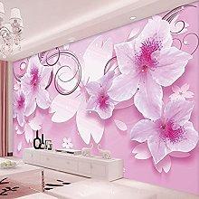 3D HD Stereoscopic Pink Flowers Custom High