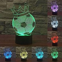 3D Honor Crown Football Soccer Night Light Touch
