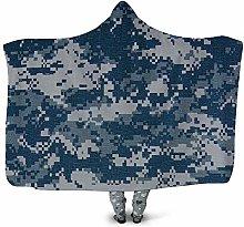 3D Hooded Blanket Blanket With Sleeves Blanket