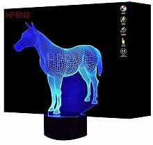 3D Horse Night Light USB Touch Switch Decor Table