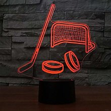 3D Ice Hockey Night Light USB Touch Switch Decor