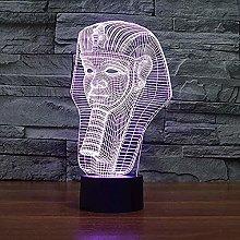 3D Illusion Lamp Beauty Runs Night Light Suitable