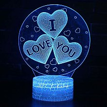 3D Illusion Lamp Kids I Love You Theme Touch Table