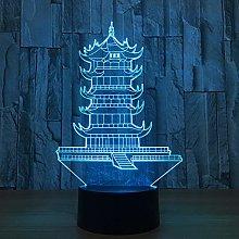 3D Illusion Lamp, Led Bedside Lamp, Table Lamp,