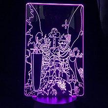 3D Illusion Lamp Led Night Light Anime Black