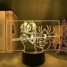 3D Illusion Lamp Led Night Light Anime Hxh