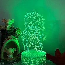 3D Illusion Lamp Led Night Light Anime My Hero