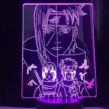 3D Illusion Lamp Led Night Light Anime Naruto