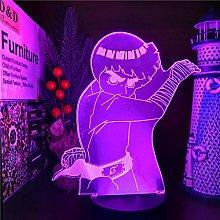 3D Illusion Lamp Led Night Light Anime Naruto Rock