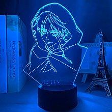 3D Illusion Lamp Led Night Light Anime Titan Eren