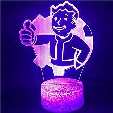 3D Illusion Lamp Led Night Light Boy for Fans