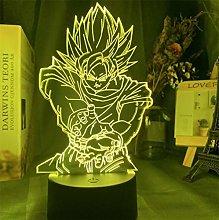 3D Illusion Lamp Led Night Light Cartoon Character