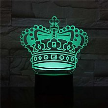 3D Illusion lamp led Night Light Cute Baby Crown