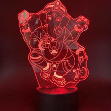 3D Illusion Lamp Led Night Light Ganesha Cheap