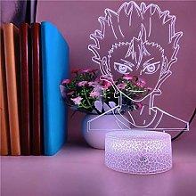 3D Illusion Lamp Led Night Light Haikyuu Portrait