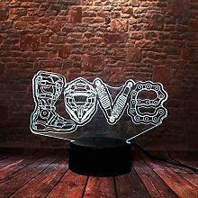 3D Illusion Lamp Led Night Light Luminous Love
